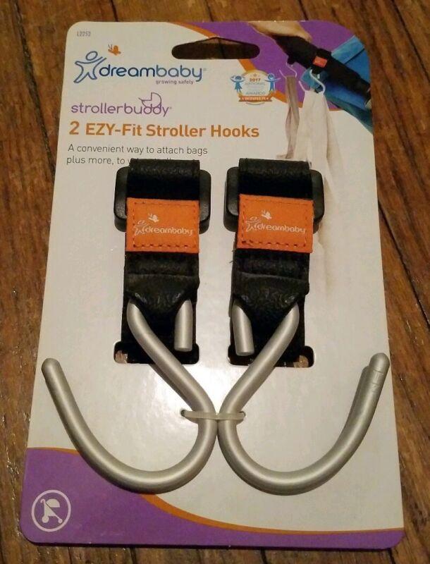 2 New Dreambaby Strollerbuddy Ezy-Fit Stroller Hooks Bag Holders
