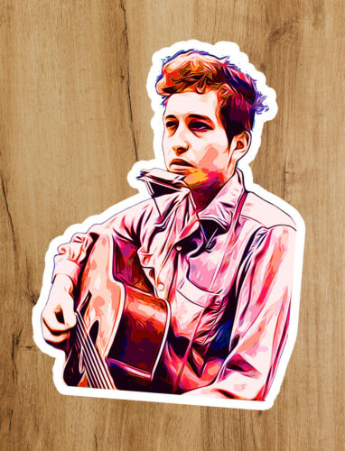 Bob Dylan Guitar Young Psychedelic Premium Quality Sticker 2x3 in