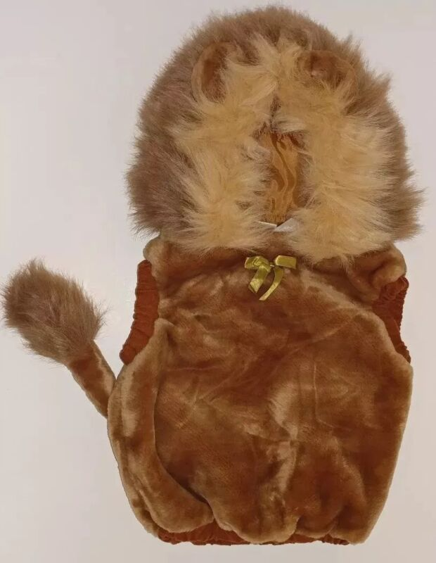 EUC 1999 Lion Halloween Costume Kids Toddler 12-24M Warm Layer Wizard of Oz Zoo