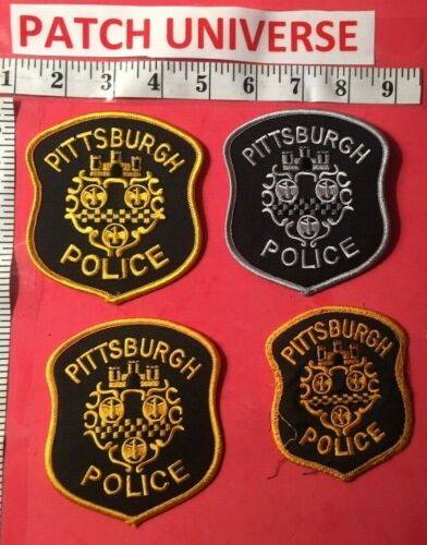LOT OF 4 PITTSBURGH  POLICE  SHOULDER PATCHES    B025