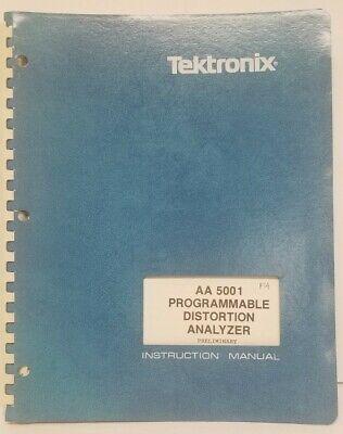 Instruction Manual Tektronix Aa5001 Programmable Distortion Analyzer Preliminary