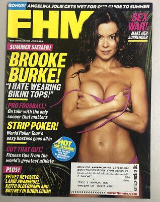 FHM Magazine June 2004 Brooke Burke Landi Swanepoel Free Shipping