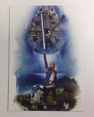 2017 TOPPS STAR WARS JOURNEY TO THE LAST JEDI REY CONTINUITY CARD #3 of 5