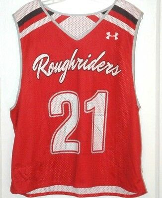Rare ROUGHRIDERS LACROSSE CLUB JERSEY Baltimore Maryland TEAM Under Armour L 5268cbdca