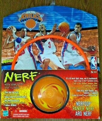 Rare Vintage 2003 Nerfoop New York Knicks Basketball Over the Door Hoops Ball