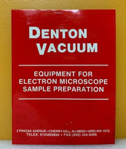Denton Vacuum Equipment For Electron Microscope Sample Preparation Catalog.