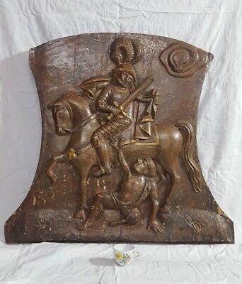 Relief Reliefbild Schnitzarbeit St.Martin 18./19.Jahrhundert 75 x 80 cm