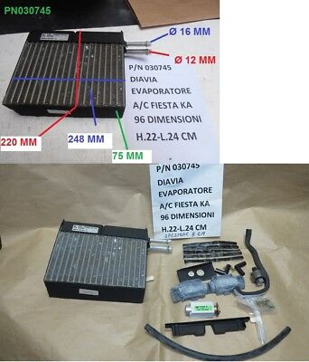 Usado, Radiador Evaporador Condensador Ford Fiesta de 1996 y Ford Ka de 1997 Al 2008 comprar usado  Enviando para Brazil