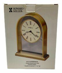"Howard Miller Reminisce Table Clock 613-118 Brass 7.25"" Quartz Shelf"