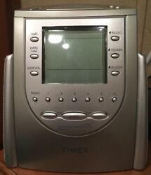 Timex Nature Sounds AM/FM Radio Alarm Clock 6 Presets Wake Sleep Buzzer T309T