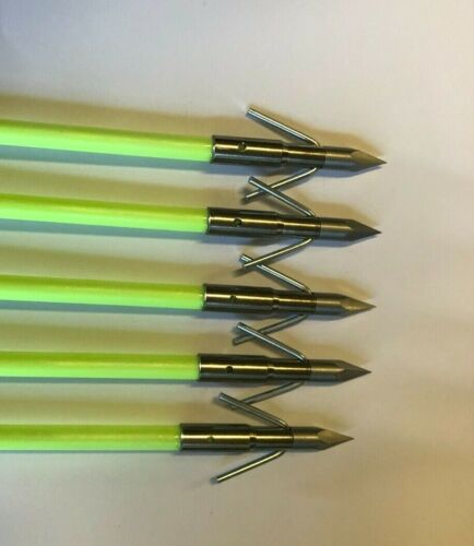 5 PSE Bowfishing Arrows AMS Point With AMS Safety Slide, Muzzy Style