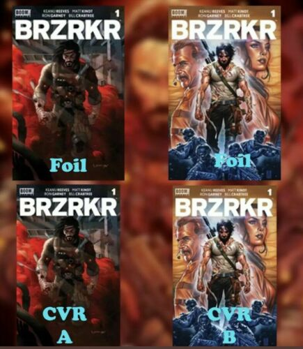 BRZRKR #1 BERZERKER 4 Comics A, B, C Foil, & D Foil KEANU REEVES BOOM!  Pre-Sale