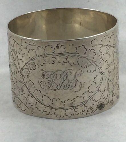 Sheffield Sterling Martin & Hall 1890? Napkin Ring triple mono