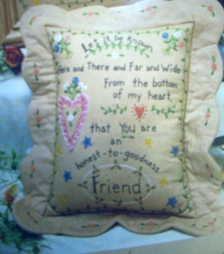 Friendship verse  you are my friend embroidery pattern Bareroots