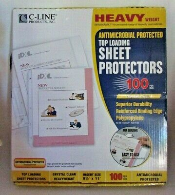 C-line Heavy Weight Top Loading Sheet Protectors 8.5x11 100pkg-clear 62033