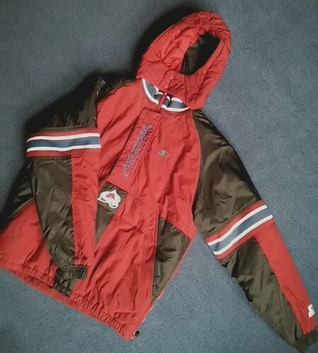 XL youth STARTER Colorado AVALANCHE hooded COAT