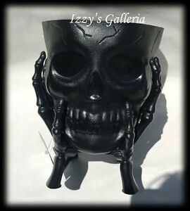 Halloween Creepy Scary Black SKULL Hands Serving Bowl Snack Candy Party Decor