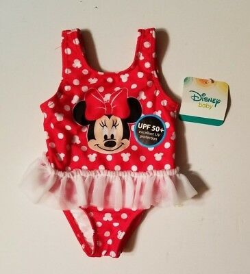 Disney Minnie Mouse Baby Girls Swimsuit 0-3 3-6 6-9 12 18  24 MONTHS ](Disney Swimwear Girls)