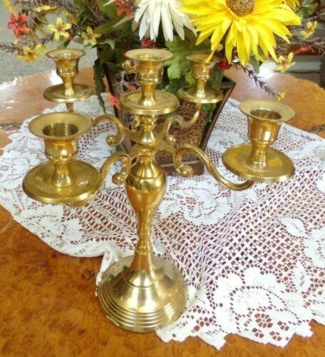 Vintage Brass 5 Candle Candelabra