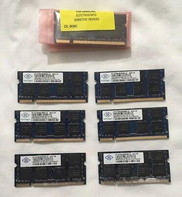 LOT OF (8) Nanya 1GB PC2-5300 DDR2 Memory for IBM/APPLE Laptops