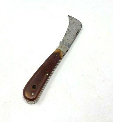 Vintage Queen Cutlery Folding Hunter Pocket Knife Hawkbill Made in USA