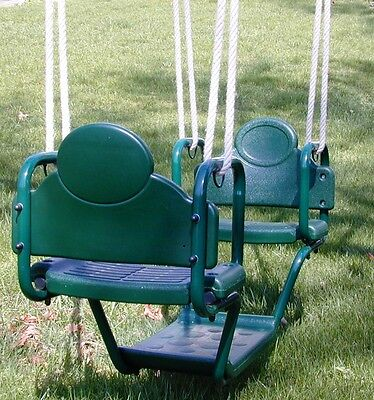 Swingset glider swing, face to face glider,playset,playground glider swing,Grn - Kids Glider Swing