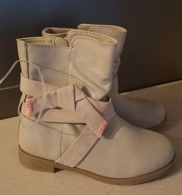 Cat & Jack Youth Girls sparkling Taupe Boots size - Girls Sparkle Boots
