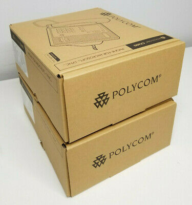 New Lot Of 2 Polycom Cx600 Color Display Microsoft Lync Desktop Voip Phone