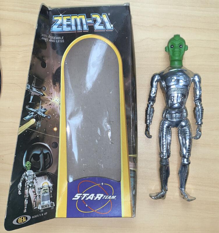 Star Team  Zem-21 Robot Figure In Original Box Ideal 1977