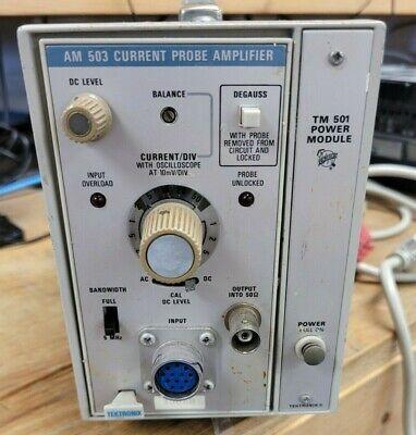 Tektronix Am 503 Current Probe Amplifier With Tm 501 Power Module