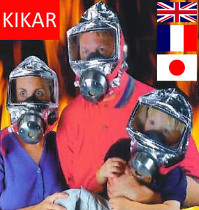 Emergency Escape Hood Oxygen Mask Respirator 60 Minutes Fire Smoke Toxic Filter