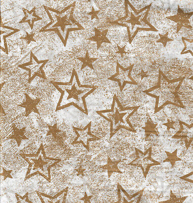 Gold Stars Tissue Paper - Gold Star Accent Splatter Tissue Paper #821 - 10 Large Sheets