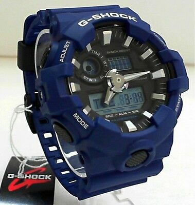 New Casio G-Shock GA-700-2A Big Case Ana Digi World Time Watch