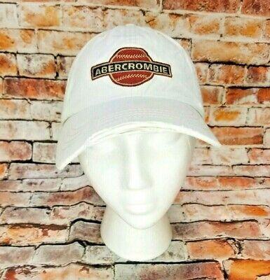 (KK-7363) Abercrombie & Fitch Baseball Hat Cap Adjustable Leather Strap Beige