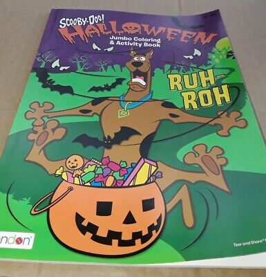 Halloween Coloring Page (Scooby-Doo Halloween Coloring Activity Book 64 Pages Shaggy Fred Velma)