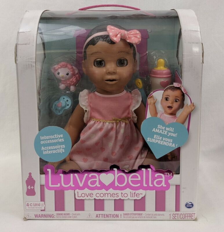 Luvabella Interactive Baby Brunette Doll Complete w/ Box Accessories Brown Hair