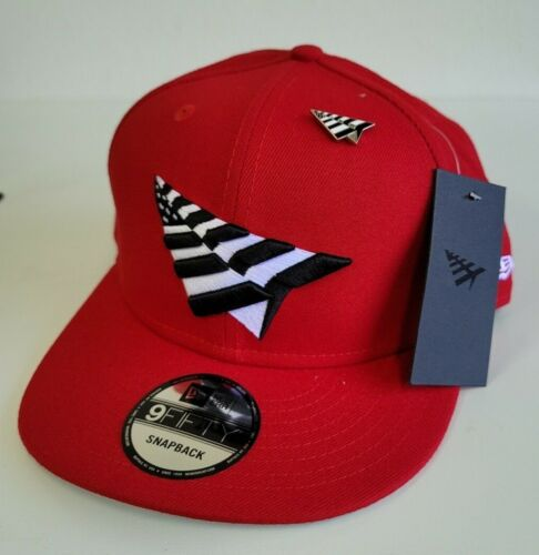 New Era ROC Nation Red Paper Planes With Pin 9FIFTY Snapback