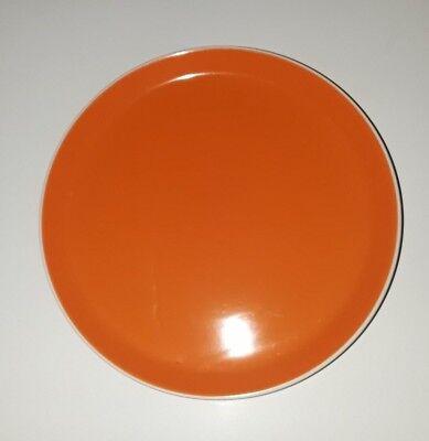 4 Oneida Color Burst Chili Mango Orange Int White Ext Stoneware Dinner Plates