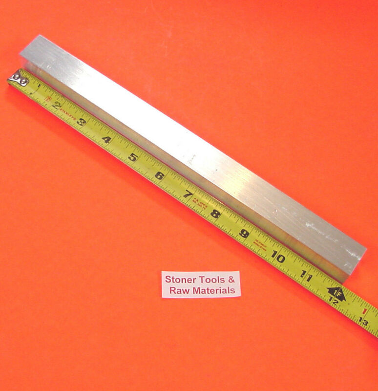 "1"" X 1"" SQUARE ALUMINUM 6061 FLAT BAR 12"" long T6511 1.000"" New Mill Stock"