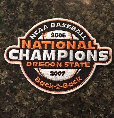 Oregon State Beavers Baseball Jersey National Champions Patch  06-07 CWS NCAA