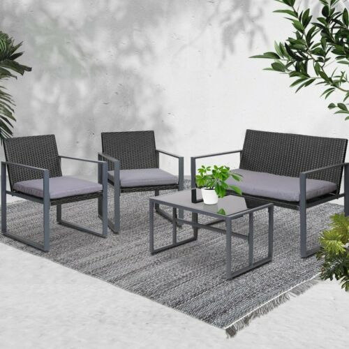 Garden Furniture - Gardeon Patio Setting Outdoor Furniture Lounge Chairs Table Garden Bench Wicker