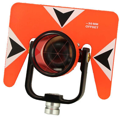 Red Color All Metal Prism Set W Bag For Total Station Surveying