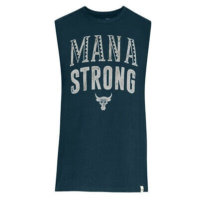 Under Armour Mens x Project Rock Mana Strong Tank Top Casual Vest 1326385 918