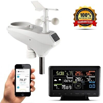 Wireless Weather Monitor (Zeus Smart Wireless WiFi Weather Station 10 in 1 With Remote Monitoring &)