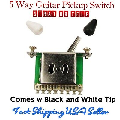 Black w//Black Tip Box 3-way Pickup Toggle Switch Import Guitar//Bass SW-BOX-BB