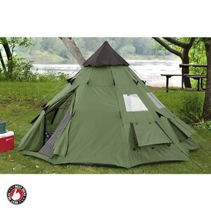Yurt Tent Teepee For C&ing Four Season 6 person Large Military Survival Gear  sc 1 st  eBay & Teepee Tent | eBay
