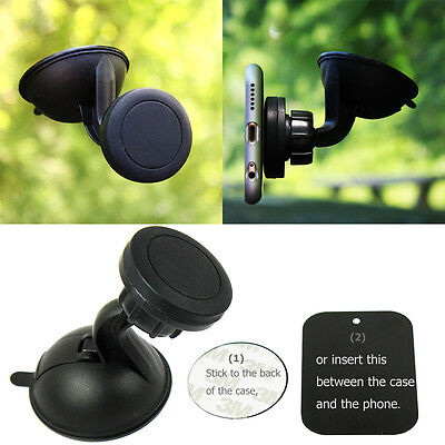 - 360º Magnetic Car Windshield Mount Holder with Suction Cup For Cell Phone GPS