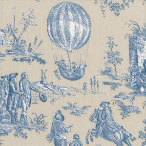 Montgolfiere Toile Blue Balloon Caspari paper napkins 20 pack 33 cm sq 3 ply