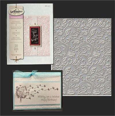 Spellbinders embossing folders Floral folder SES-007 Wedding,swirls