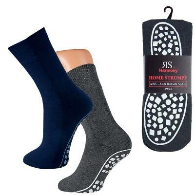 1 bis 6 Paar ABS Socken Anti Rutsch Damen  Herren Noppen Stoppersocken Gr. 35-50